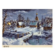 Картина по номерам 40х50, Зима.