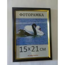 Фоторамка, пластиковая, А5, 15*21, рамка, для фото, дипломов, сертификатов, грамот, вышивок  1415-06