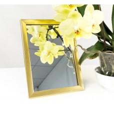 Зеркало в багете, зеркала настольные, зеркала настенные, зеркало с подставкой, 1611-18 15*21